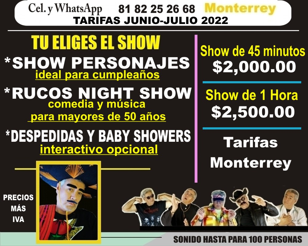 shows para baby showers en monterrey
